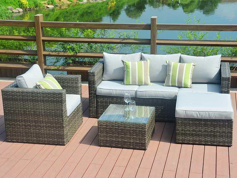 yard wicker sofa