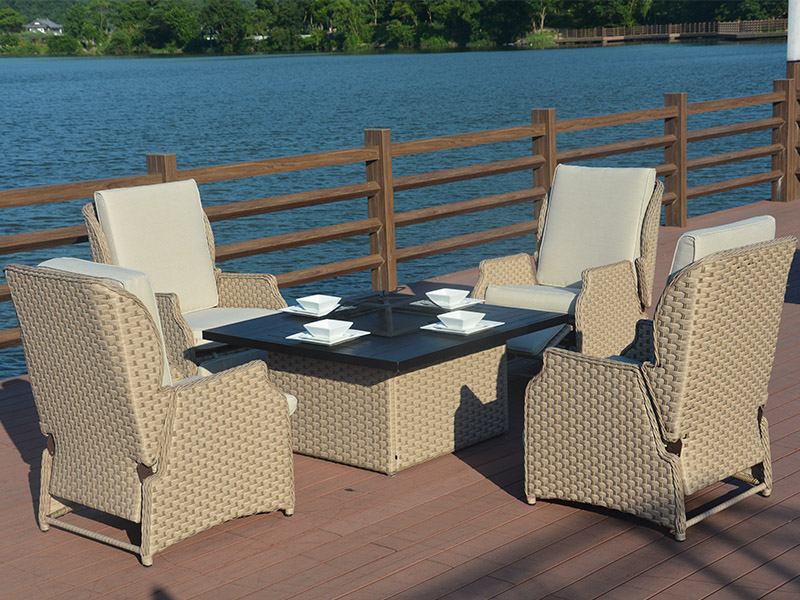 Rattan wicker furniture sofa set