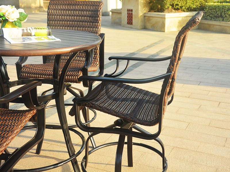 outdoor barchair set