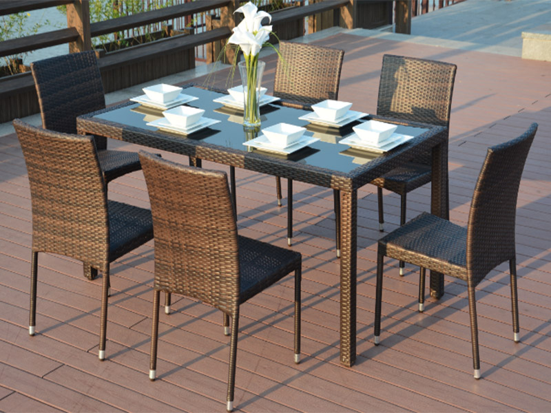 New Paleo Rattan Dining Sets furniture