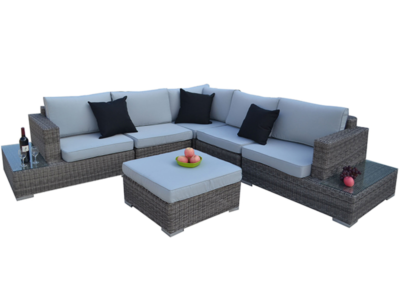 Rattan corner sofa set designs living room furniture
